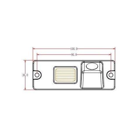 Автомобильная камера заднего вида для Mitsubishi Pajero Превью 4