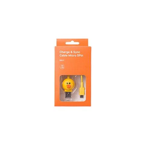 Cable micro USB de 5 pines para conectar smartphone  (Line Friends – Silly) Vista previa  1