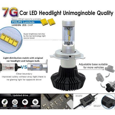 Набір світлодіодного головного світла UP-7HL-881W-4000Lm (881, 4000 лм, холодний білий) Прев'ю 2