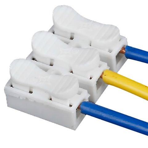 Прямий 3-контактний конектор для з'єднання проводів 250 В 6 А Прев'ю 1