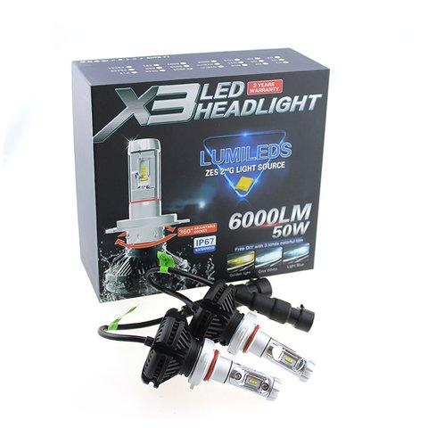 Набір світлодіодного головного світла UP-X3HL-H1W-6000LM (H1, 6000 лм, холодний білий) Прев'ю 1