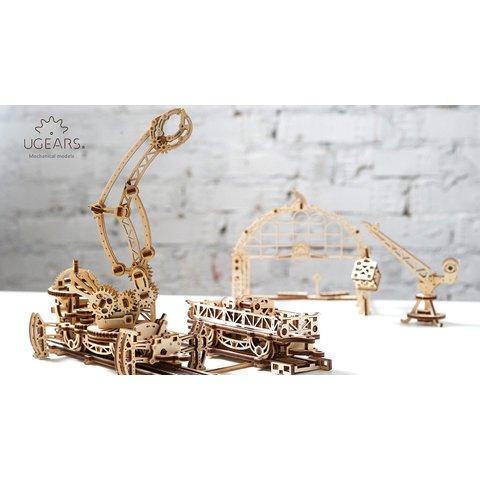 Механический 3D-пазл UGEARS Манипулятор на рельсах Превью 6